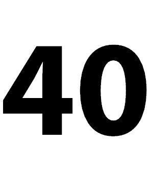 Zahl 40 Bedeutung