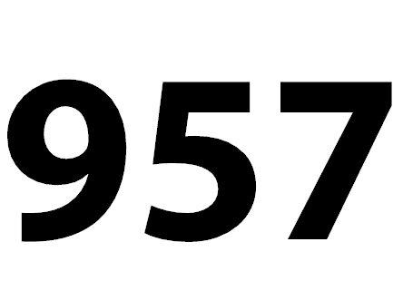 Welche Bedeutung hat die Zahl 957 noch?